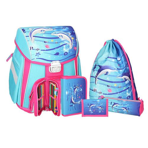 SPIRIT - Školská taška - 5-dielny set, START Dolphins