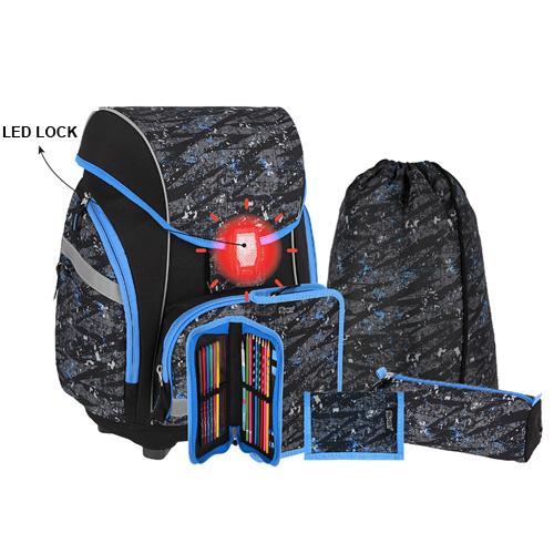 SPIRIT - Školská taška - 7-dielny set, PRO LIGHT PREMIUM Football, LED