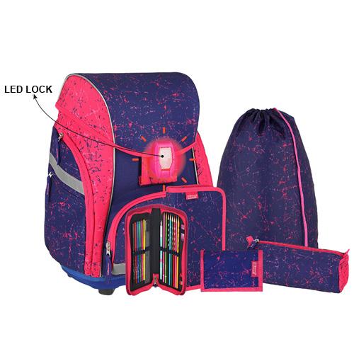SPIRIT - Školská taška - 7-dielny set, PRO LIGHT PREMIUM Pegasus, LED
