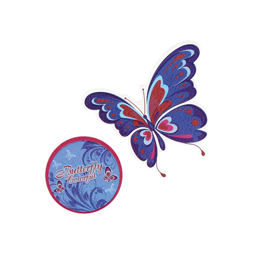 SPIRIT - Sticker na tašku Butterfly, sada 2 ks