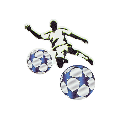 SPIRIT - Sticker na tašku Football Player, sada 2 ks