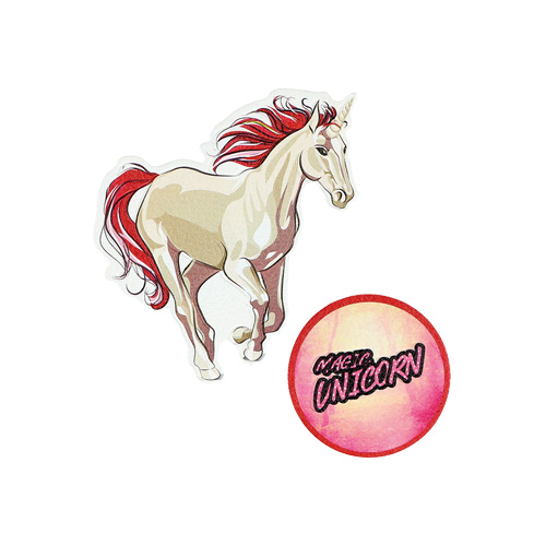 SPIRIT - Sticker na tašku Magic Unicorn, sada 2 ks