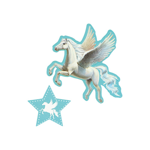 SPIRIT - Sticker na tašku Unicorn, sada 2 ks