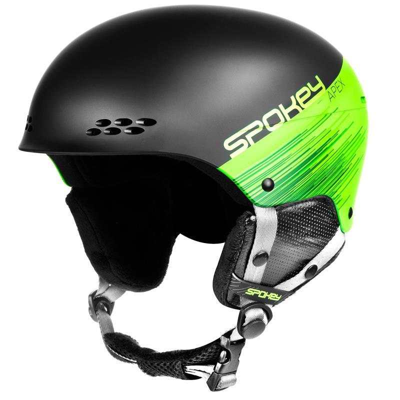 SPOKEY - APEX lyžiarska prilba čierno-zelená, vel. M