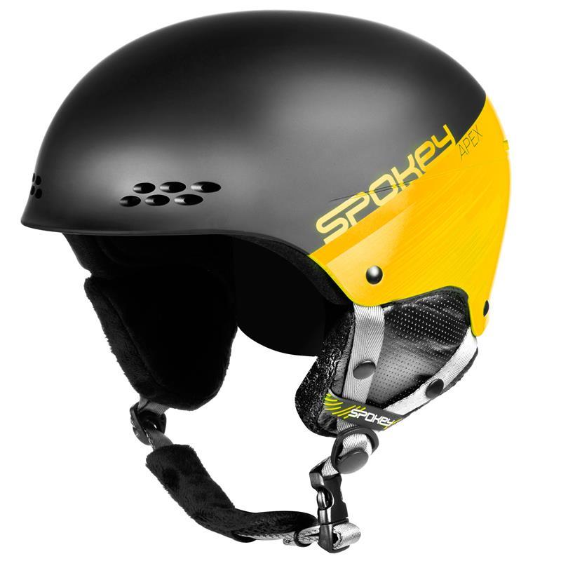 SPOKEY - APEX lyžiarska prilba čierno-žltá, vel. L / XL