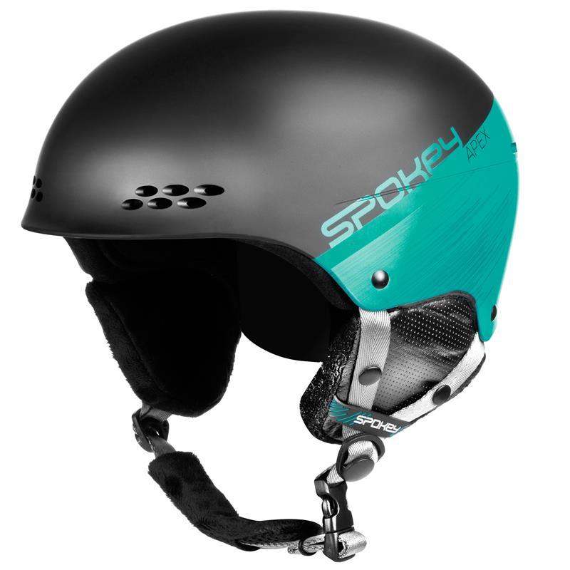 SPOKEY - APEX lyžiarska prilba sivo-zelená, vel. L / XL