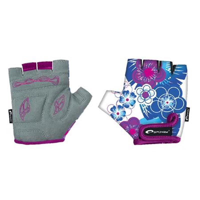 SPOKEY - BLUE GLOVE cyklistické rukavice detské S (17 cm)