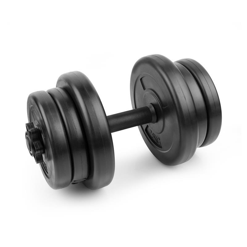SPOKEY - BURDEN SET Činka 10 kg, sada závažia 2x 2,5kg, 4x 1,25 kg, 1 hriadeľ