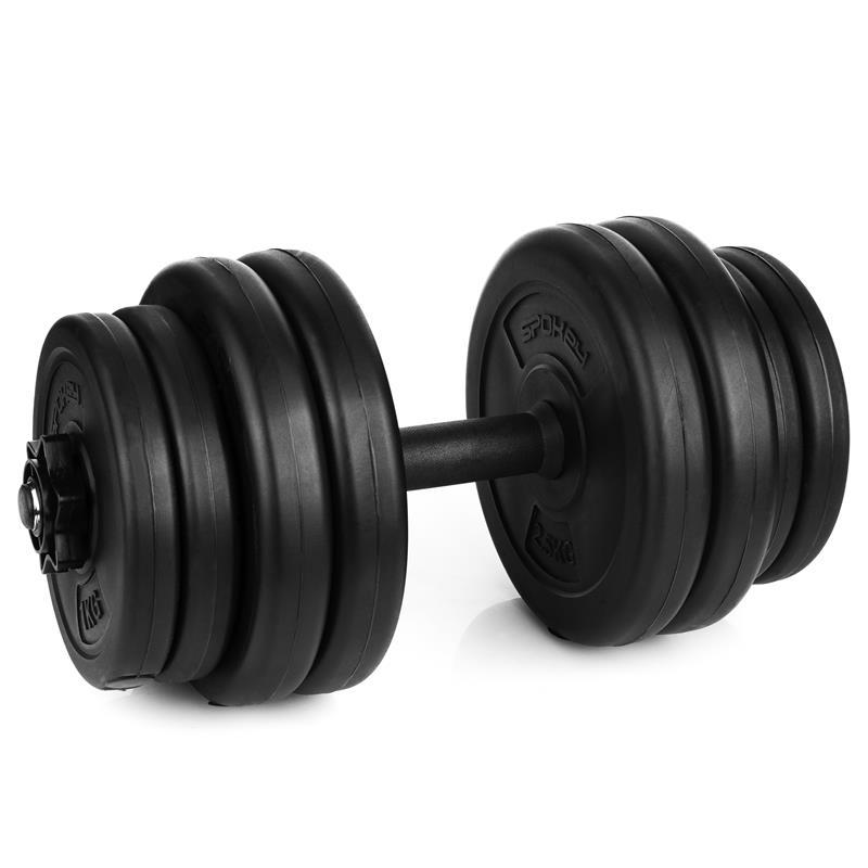 SPOKEY - BURDEN SET Činka 15 kg, sada závaží 4x 2,5kg, 4x 1,25 kg, 1 hriadeľ