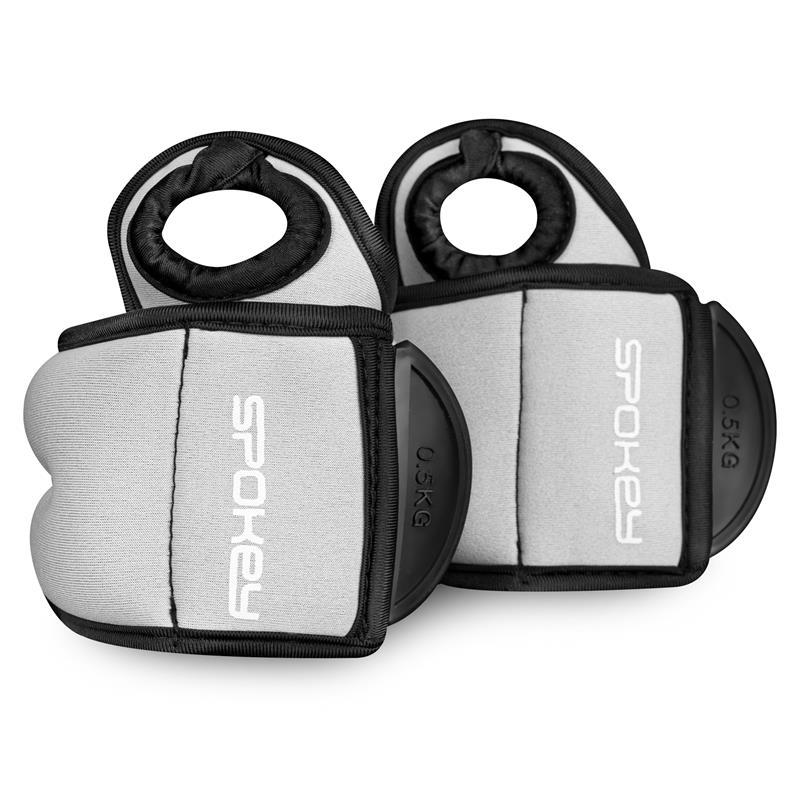 SPOKEY - COM FORM IV Závažie na zápästie 2 x 0,5kg šedé