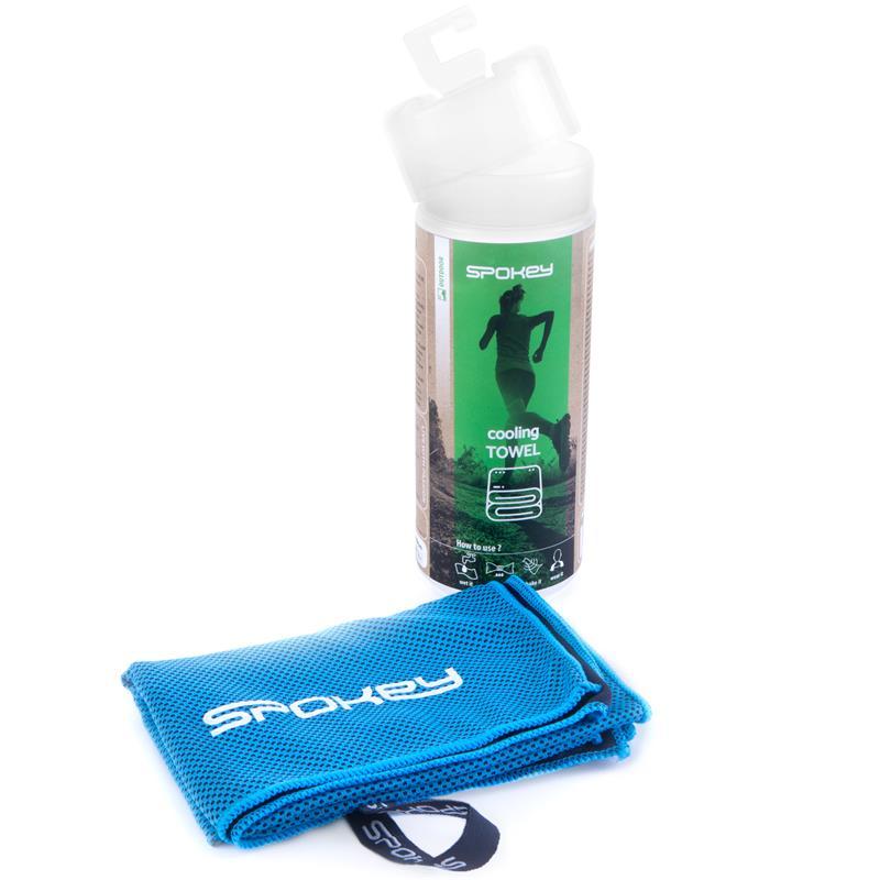 SPOKEY - COSMO Chladiaci rýchloschnúci uterák 31 x 84 cm, svetlo modrý v plastovej tube