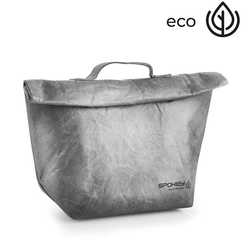 SPOKEY - EKO FRIENDLY CARTA Termo obal na desiatu s pútkom, šedý, 20 x 12 x 30 cm