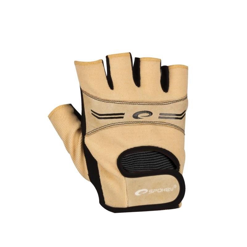 SPOKEY - ELENA Dámské Fitness rukavice béžová vel. L
