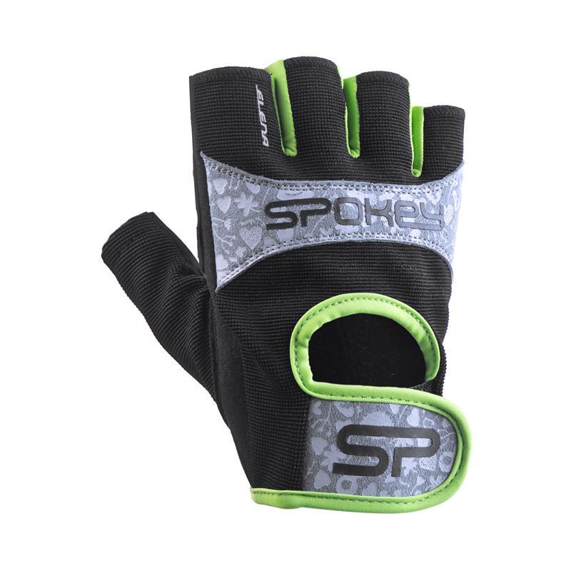 SPOKEY - ELENA II Dámské Fitness rukavice vel.L limeta