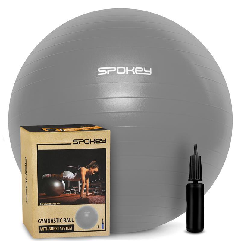SPOKEY - FITBALL III Gymnastická lopta 75 cm vrátane pumpičky, šedá