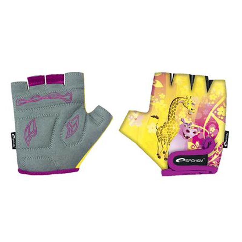 SPOKEY - GIRAFFE GLOVE - Cyklistické rukavice detské XS (16 cm)