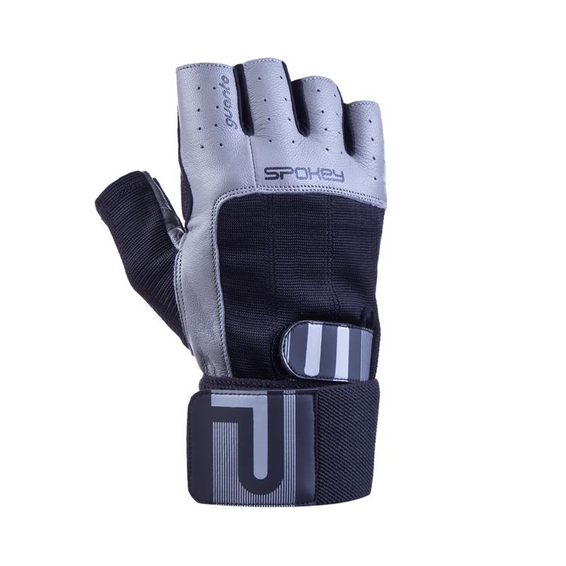 SPOKEY - GUANTO II fitness rukavice vel.L čierno-sivé
