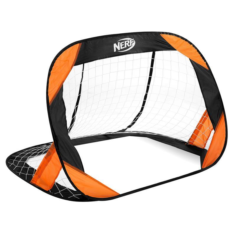 SPOKEY - HASBRO BUCKLER Samorozkladacia fotbalová bránka 2 ks, značka NERF čierno-oranžová
