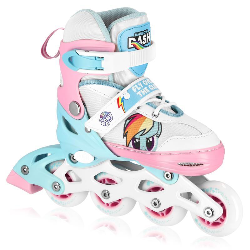 SPOKEY - HASBRO CANDY PK kolieskové korčule, modro-ružové, zn. MY LITTLE PONY, ABEC7 Carbon, veľ. 28-32