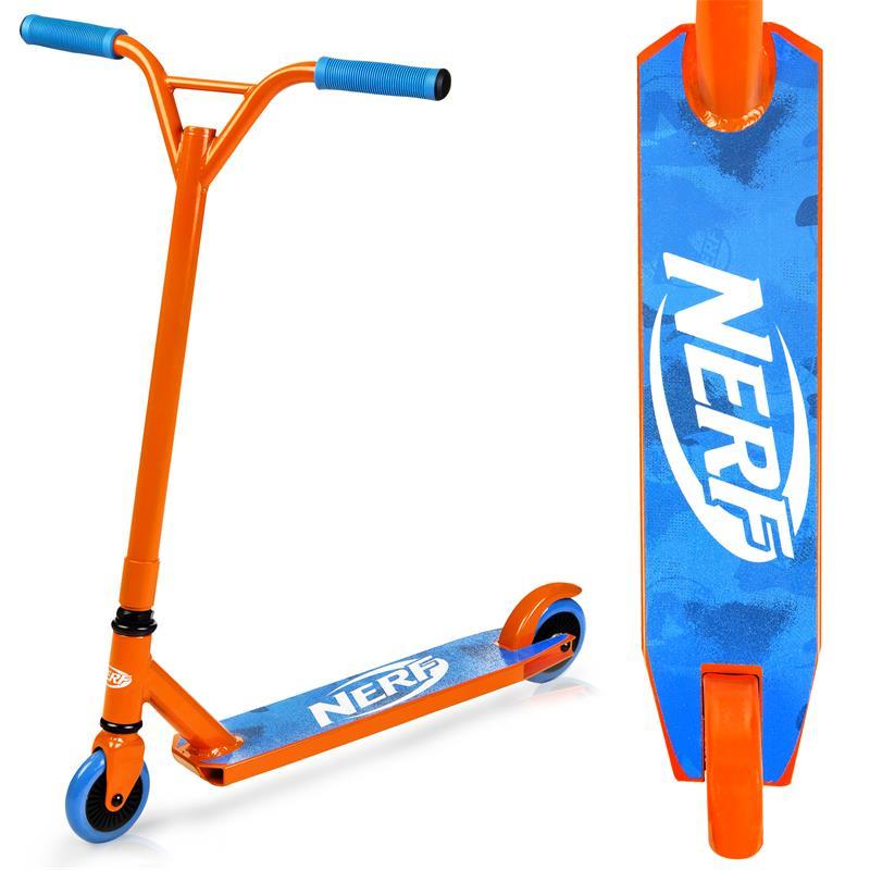 SPOKEY - HASBRO STRIKE Kolobežka freestyle, kolieska 100 mm, zn. NERF, oranžovo-modrá