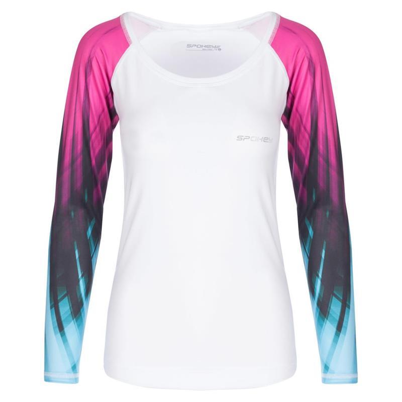 SPOKEY - HAY, fitness triko, dlhý rukáv, biele, vel. L