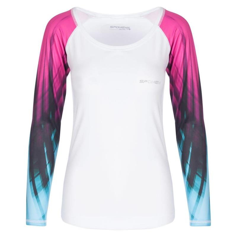 SPOKEY - HAY, fitness triko, dlhý rukáv, biele, vel. M