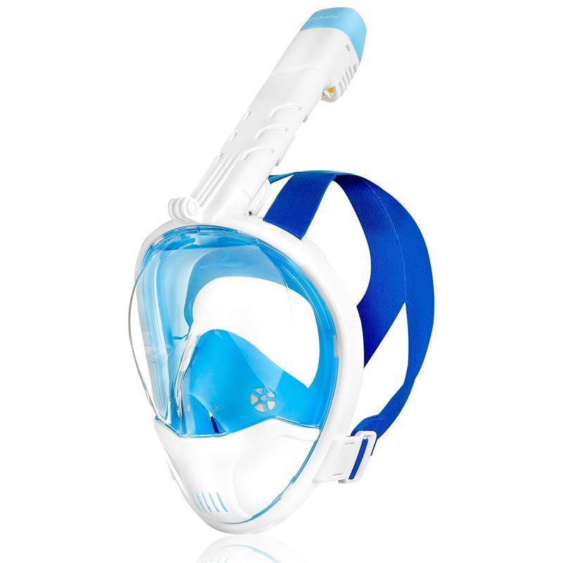 SPOKEY - KARWI BL/WT Celotvárová maska - biela L/XL