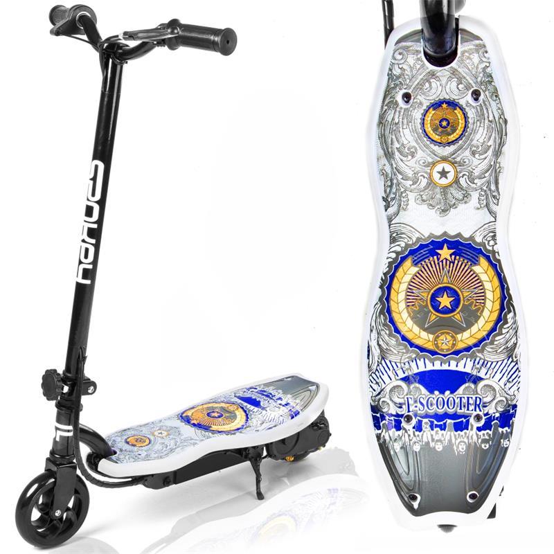 SPOKEY - KEID Elektrická kolobežka biela s potlačou, do 70 kg