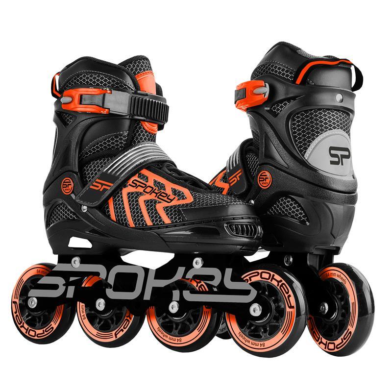 SPOKEY - KHAN Kolieskové korčule, čierno-oranžové, ABEC7 Carbon, veľ. 39-42