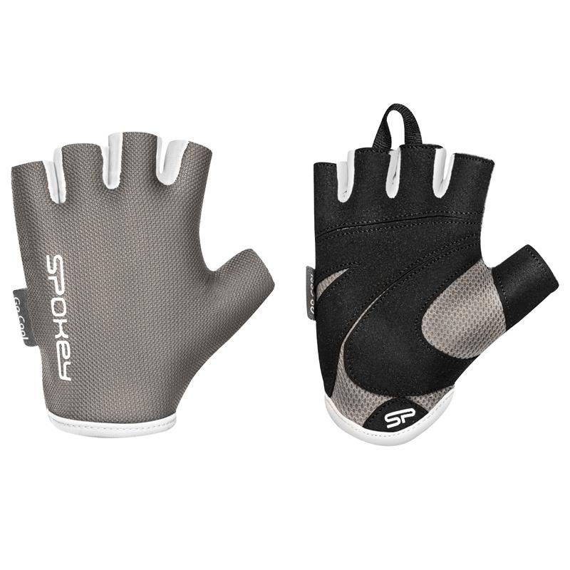 SPOKEY - LADY FIT Dámské fitness rukavice, sivé, veľkosť S