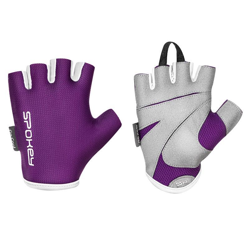 SPOKEY - LADY FIT Dámské fitness rukavice, vínové, veľkosť L