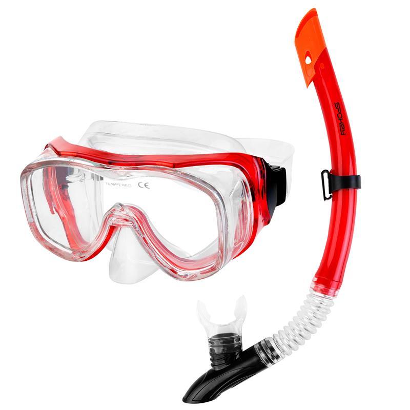 SPOKEY - LUZON Panoramatická sada pre potápanie maska+šnorchel