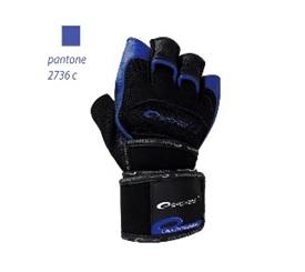 SPOKEY - MITON Fitness rukavice čierno - modré vel. L