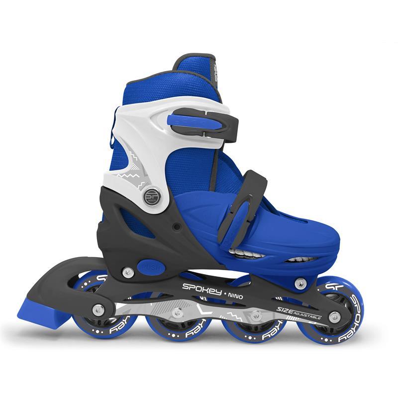 SPOKEY - NINO kolieskové korčule, bielo-modré, ABEC1 Carbon, veľ. 31-34