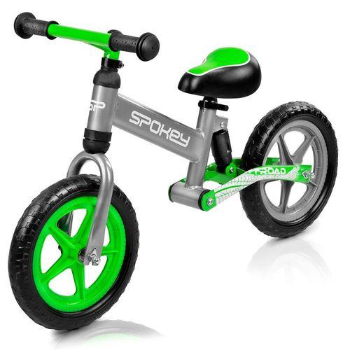 SPOKEY - OFF-ROAD Detské odrážadlo sivo-zelené