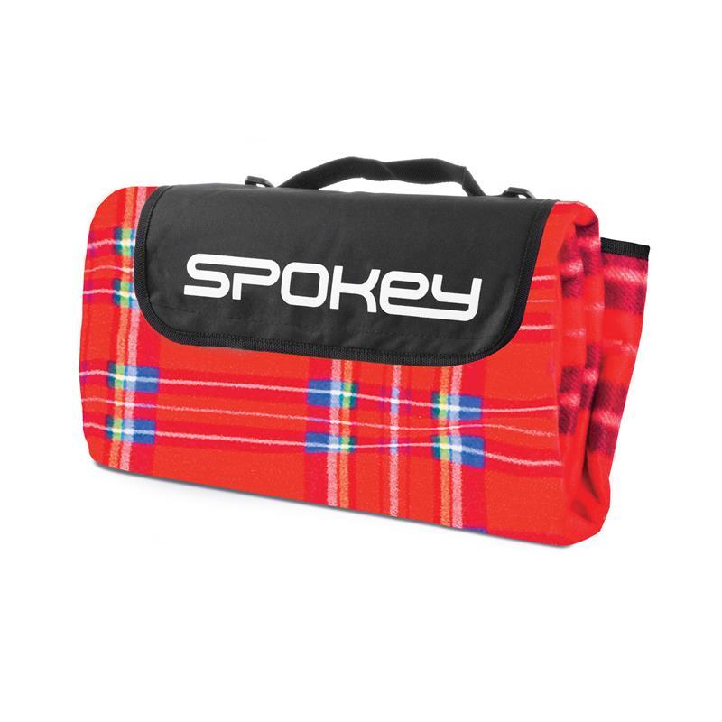 SPOKEY - PICNIC TARTAN Pikniková deka 150x180 cm červené káro