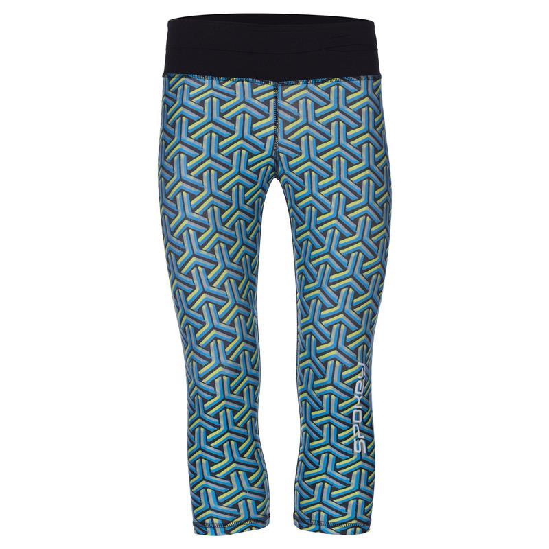 SPOKEY - PRATO, fitness 3/4 legíny, modro-zelené, vel. L