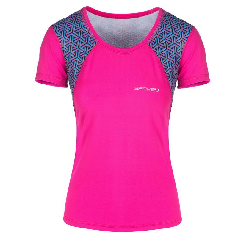 SPOKEY - RAIN, fitness triko/T-shirt, krátky rukáv, ružové, vel. L