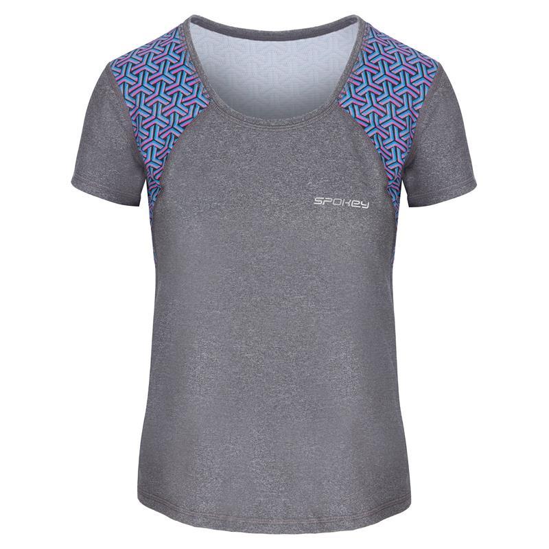 SPOKEY - RAIN, fitness triko/T-shirt, krátky rukáv, šedé, vel. M