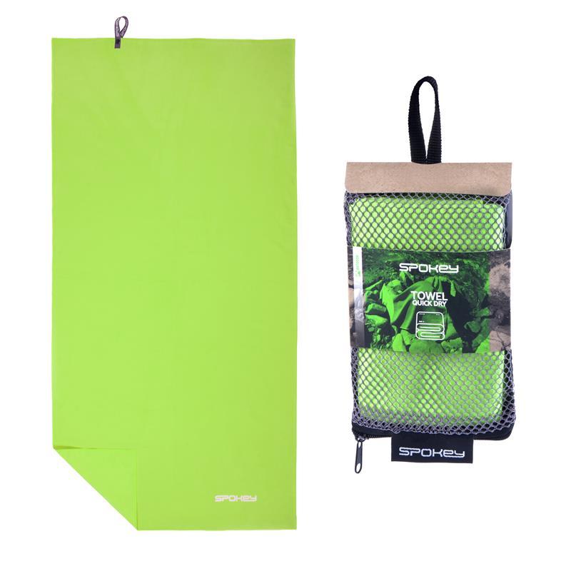 SPOKEY - SIROCCO M Rýchloschnúci uterák 40 x 80 cm, zelený s odnímateľnou sponou