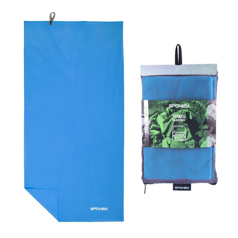 SPOKEY - SIROCCO XL Rýchloschnúci uterák 85x150 cm, tyrkysový s odnímatelnou sponou