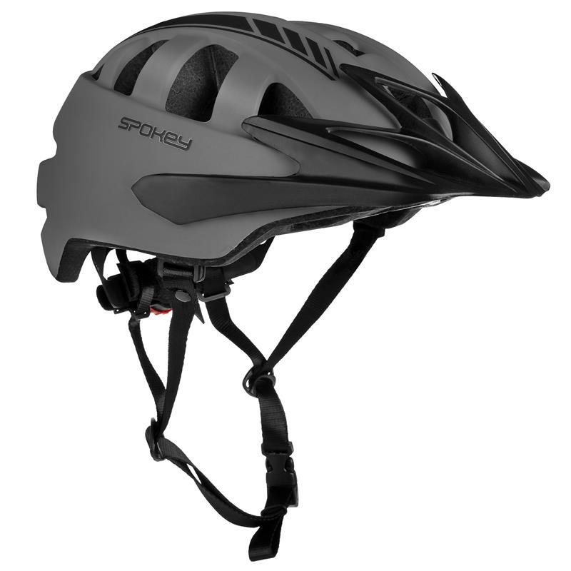 SPOKEY - SPEED Cyklistická prilba pre dospelých, 55-58 cm, sivá