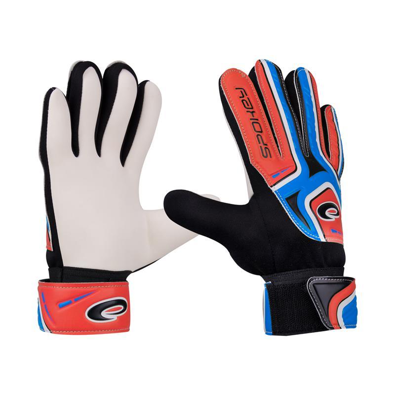 SPOKEY - Spokey CATCH II Brankárske rukavice roz.5 modro-červené
