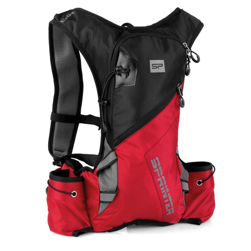 SPOKEY - SPRINTER Cyklistický a bežecký ruksak 5l čierno / červený, vodeodolný