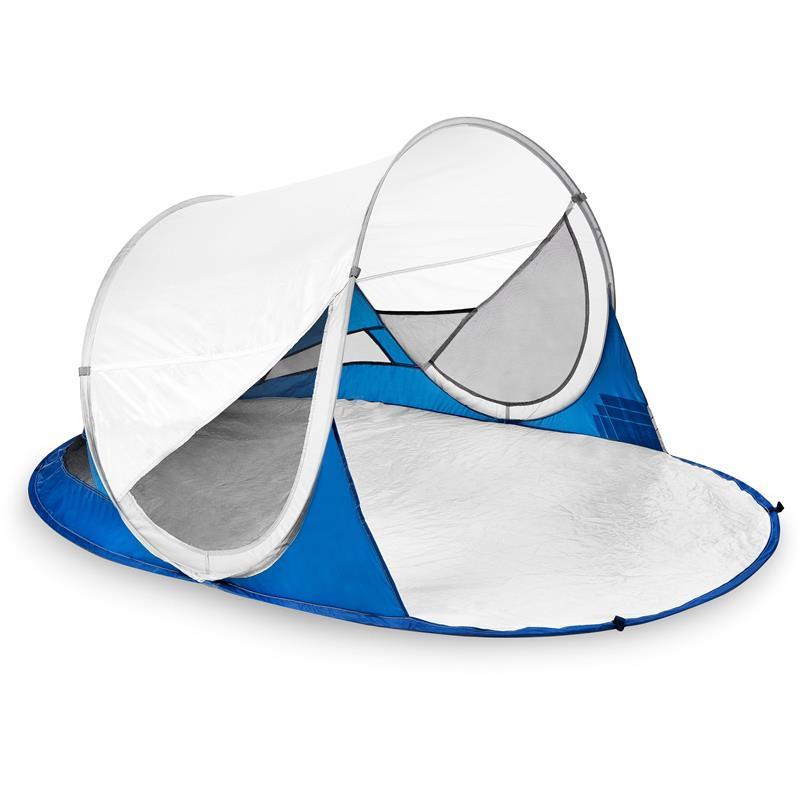 SPOKEY - STRATUS Samorozkládací plážový paraván, UV 40, 190x120x90 cm - bielo-modrý