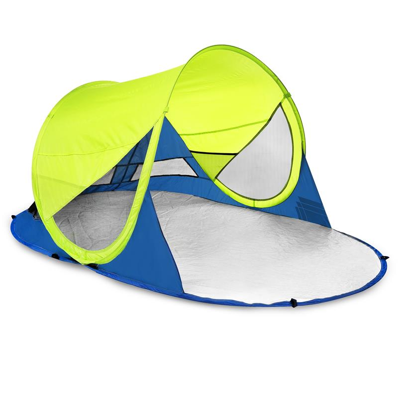 SPOKEY - STRATUS Samorozkládací plážový paraván, UV 40, 190x120x90 cm - limetovej