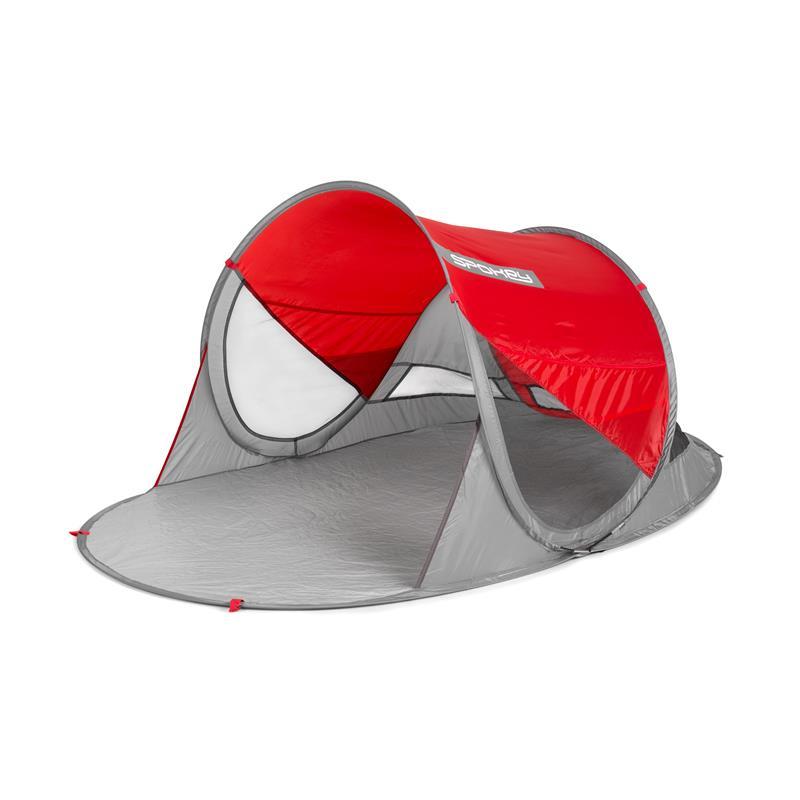 SPOKEY - STRATUS Samorozkládací plážový paravan , UV 40, 195x100x85cm - červený