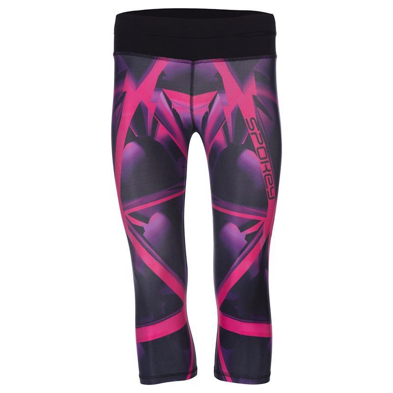 SPOKEY - TRIANI, fitness 3/4 legíny, ružové, vel. M