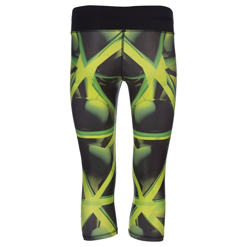 SPOKEY - TRIANI, fitness 3/4 legíny, zelené, vel. L
