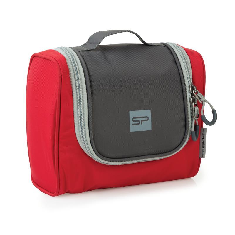 SPOKEY - TRIBAL Veľká kozmetická cestovná taška šedo-červená